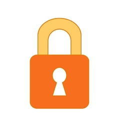 Lock symbol icon on white vector image
