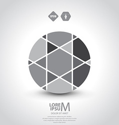 Segmented circle vector image
