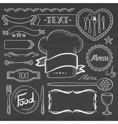 Set of ribbons frames for restaurant menu vector image