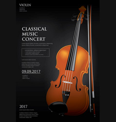 the classical music concept violin vector image