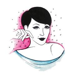 woman28 vector image vector image