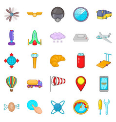 balloonist icons set cartoon style vector image vector image