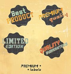 black retro labels vector image