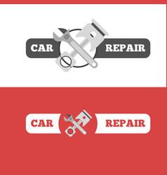 car repair service branding vector image