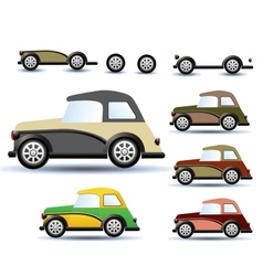Colored cars vector image