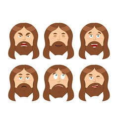 Jesus Emotions Set expressions Picture of Jesus vector image vector image