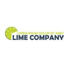 lime logo company citrus logo vector image