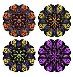 Mandala tribal ethnic ornament vector image vector image