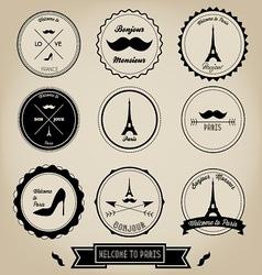 Paris france vintage label vector