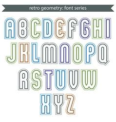 Poster light elegant font with outline vector