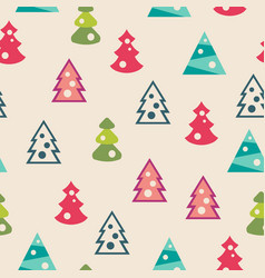 seamless pattern of christmas trees vector image vector image