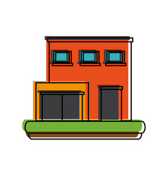 store building icon image vector image vector image