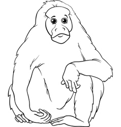 uakari animal cartoon coloring page vector image vector image