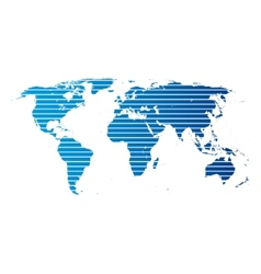 world map with continents vector image vector image