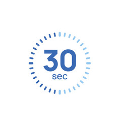 30 second timer clock sec stopwatch icon vector