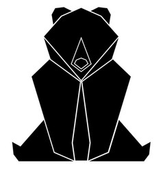 Abstract low poly bear icon vector