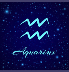 aquarius zodiac sign on a night sky vector image