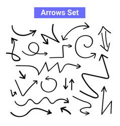 Arrow handdrawn curve icon doodle vector