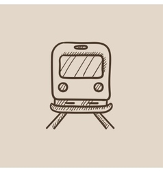 Back view of train sketch icon vector image