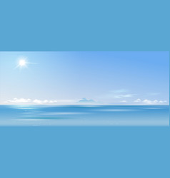 background cloudy landscape over the sea vector image