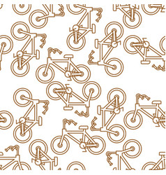 bicycle pattern outline style bmx linear style vector image