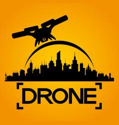 Black drone sign vector