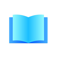 book icon sign flat design modern style vector image