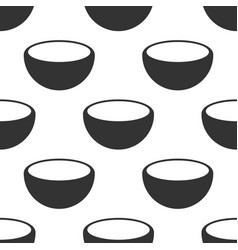 bowl icon seamless pattern on white background vector image
