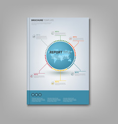 Brochures book or flyer with info graphic on the vector