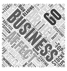 Business articles Word Cloud Concept vector