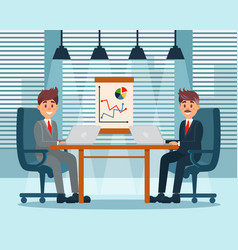Business partners planning work and strategies vector