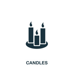 candles icon creative element design from easter vector image