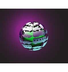 Car ball earth vector
