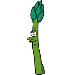 Cartoon doodle character asparagus vector