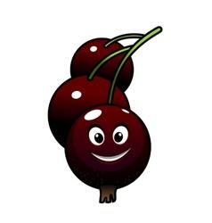 Cartoon tasty currant berries vector