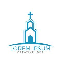Church building logo design vector