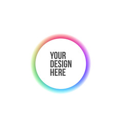 Circle banner with rainbow colors vector