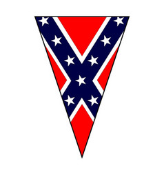civil war confederate flag as bunting triangle vector image