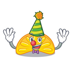 Clown orange jelly candy mascot cartoon vector