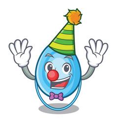 Clown oxygen mask mascot cartoon vector