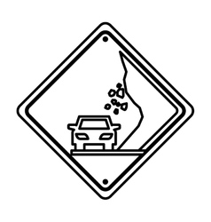 Collapse traffic signal information icon vector