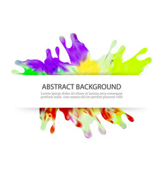 colorful splash paint decorative design background vector image