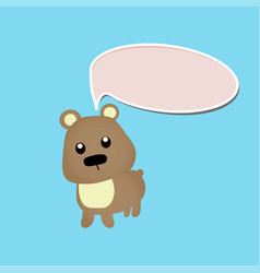 cute bear toy or animal vector image