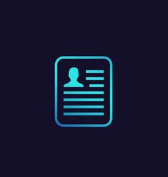 Cv resume application icon vector