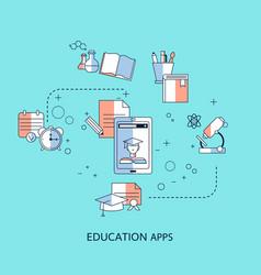 education app concept vector image