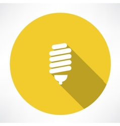 Energy saving lamp icon vector