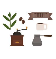 Flat coffee vector