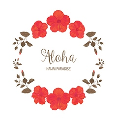 Floral Frame with Hibiscus vector