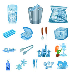 Frost and water icon vector