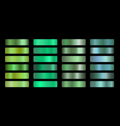 green ecology gradients set glossy shiny vector image
